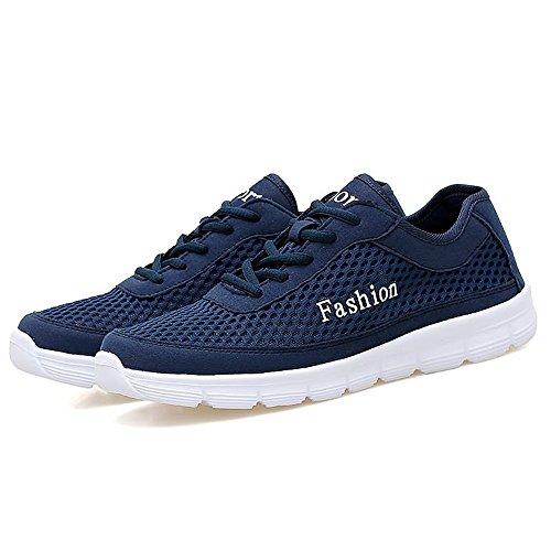 Bleu pour Shufang Baskets shoes Homme Mode fonc rtqtUX