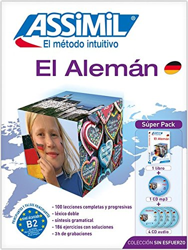 Assimil Superpack Aleman learn German for Spanish speakers (Book+4CD+1CDMP3) (German Edition) (Spanish Edition) by French and European Publications Inc