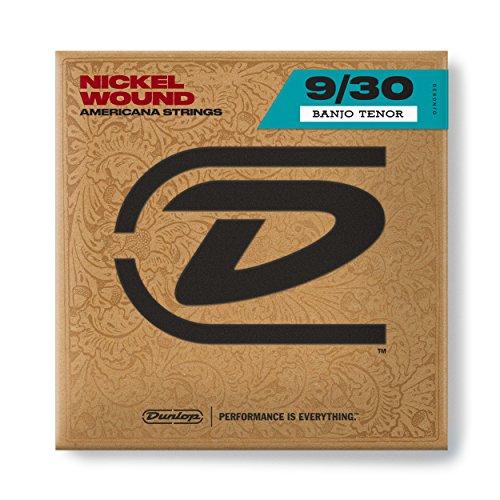 Dunlop DJN0930 Banjo Strings, Nickel, Tenor, .009-.030, 4 Strings/Set (Strings Banjo Tenor)