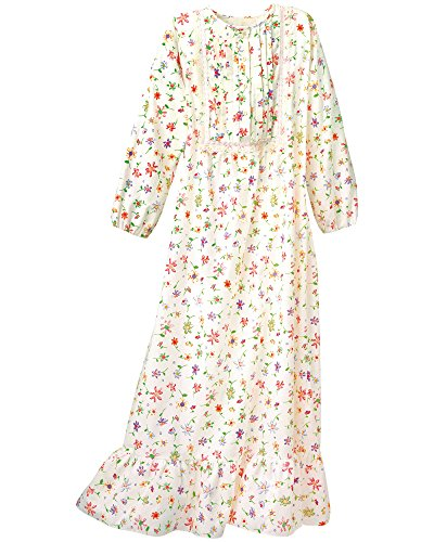 National Floral Flannel Nightgown, Multi Floral, Large ()