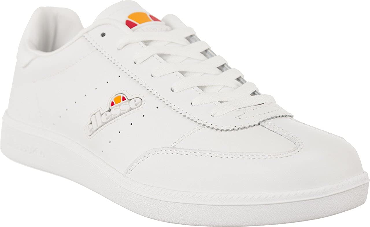coupon codes new lower prices casual shoes Ellesse Napoli White Leather Trainers 7(41): Amazon.co.uk ...