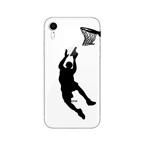 new arrival 57866 0b590 iPhone XR Case,Blingy's New Clear Fun Style Transparent Clear Protective  Soft TPU Rubber Case Compatible for iPhone XR (Basketball)