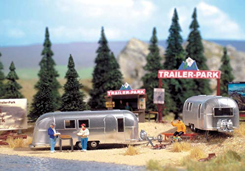 Walthers, Inc. Camp Site with Two Trailers