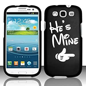 For Samsung Galaxy S3 III i9300 - Rubberized Design Cover - He`s Mine