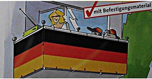 Bandera de Alemania/Privacidad para balcón/Terraza/Valla de jardín, 90 x 500 cm: Amazon.es: Jardín