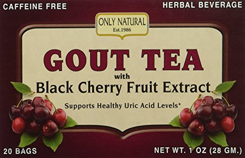 3 Pack - Only Natural Gout Tea Black Cherry Fruit Extract Bags, 20 Count by Only Natural (Image #3)