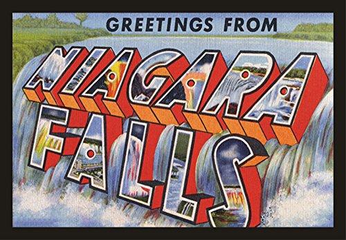 Greetings from Niagara Falls, New York, Postcard, Souvenir Magnet 2 x 3 Photo Fridge Magnet