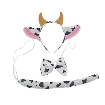 graphic relating to Cow Ears Printable identify 3Personal computers Youngster Grownup Animal Fox Cow Ears Headband Tail Mounted Birthday Occasion Write-up Halloween Gown
