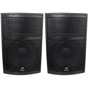 2 peavey sp 2 sp2 4000 watt 15 black widow passive 2 way pa speakers flyable. Black Bedroom Furniture Sets. Home Design Ideas