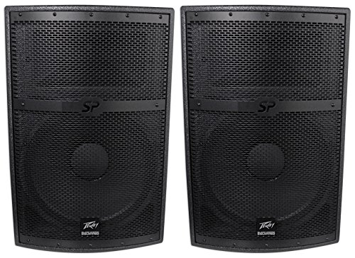 Black Speaker Widow ((2) Peavey SP 2 SP2 4000 Watt 15