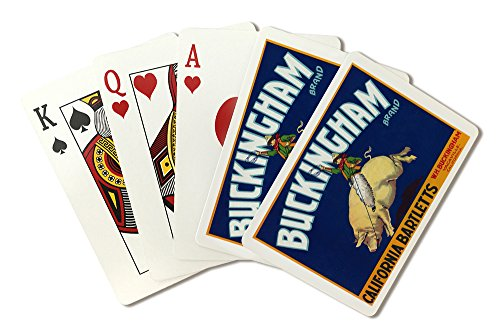 - Vacaville, California - Buckingham Brand Pear - Vintage Crate Label (Playing Card Deck - 52 Card Poker Size with Jokers)