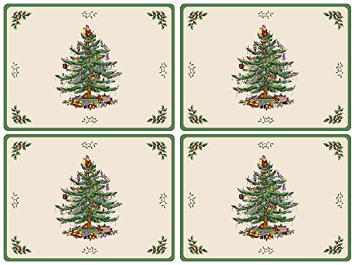 Spode Christmas Tree Hardback Placemats, Set of 4 (Placemats Christmas For)