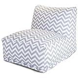 Majestic Home Goods Gray Chevron Bean Bag Chair Lounger