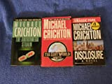 3 Book Set By Michael Crichtonrichton (The Andromeda Strain, the Lost World, Disclosure)