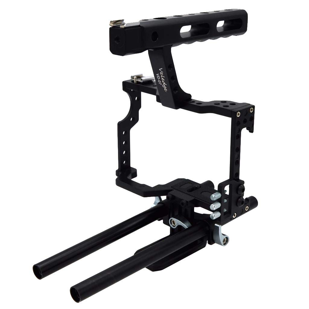 Wabaodan Veledge Vd-07 Rod Cage Kit Rig Dslr Camera Stabilizer For Sony Gh4 A7S A7 A7R A7Rii A7Sii Durable Camera Accessories by Wabaodan (Image #3)