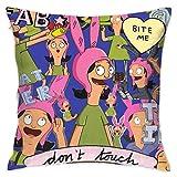 KOPDSE Bob's Burgers Soft Square Throw Pillow Case Cushion Cover 18x18