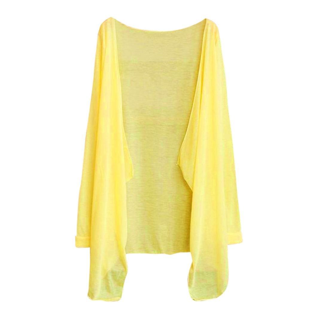 Women Summer Long Thin Cardigan Modal Soft Sun Protection Clothing Tops Outwear (E)