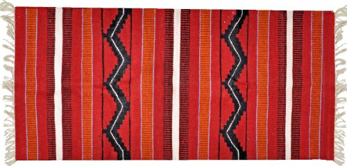 Handwoven Egyptian Tribal Kilim Rug – 100% Wool – Handmade Runner Kilim Rug with Bright, Vivid Colors – Made by ()