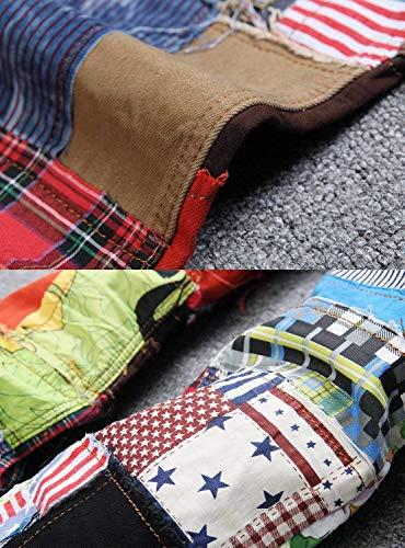 Da Di Casual Estilo Maschile Colorati Moda Bunt Especial Denim Jeans In Gamba Vintage Hippie Uomo Pantaloni Patchwork YOqdxqv