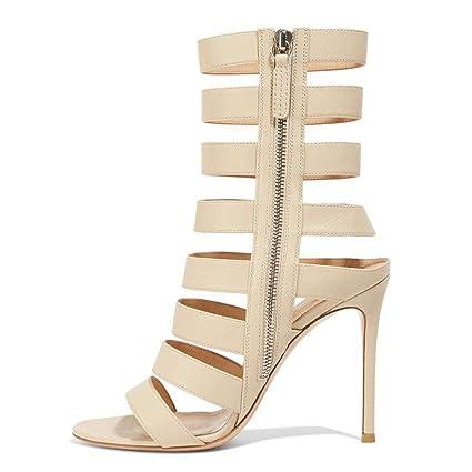 553fa7e25d81 ... Stiletto Heel Sandals Boots Open Toe Sandals Slingback High Heels Side  Zip Round Head Large Size Ankle Strap Platform Non-Slip Party Banquet  Women s ...
