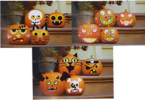 Halloween Pumpkin Decorating Craft Kits (Good for 12 Pumpkins) -