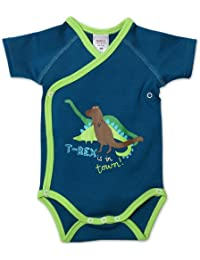 Baby Boys T Rex Screened Short Sleeve Body Wrap