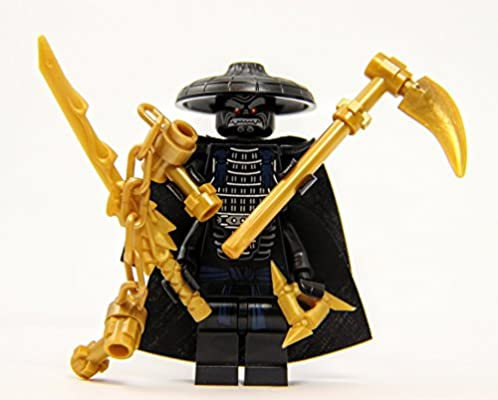 Lord Garmadon with 4 Gold Weapons and Capes - LEGO Parts