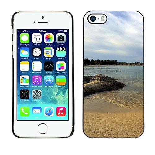 Hülle Case Schutzhülle Cover Premium Case // F00003983 Strand // Apple iPhone 5 5S 5G