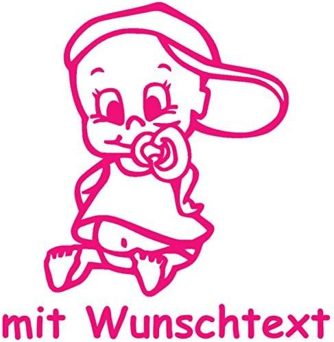 16 cm Babyaufkleber mit Name//Wunschtext Motiv 790 - 20 Farben und 11 Schriftarten w/ählbar