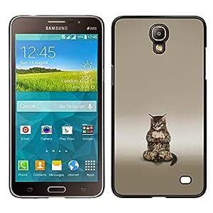 // PHONE CASE GIFT // Duro Estuche protector PC Cáscara Plástico Carcasa Funda Hard Protective Case for Samsung Galaxy Mega 2 / Cute Buddha Cat Meditating /