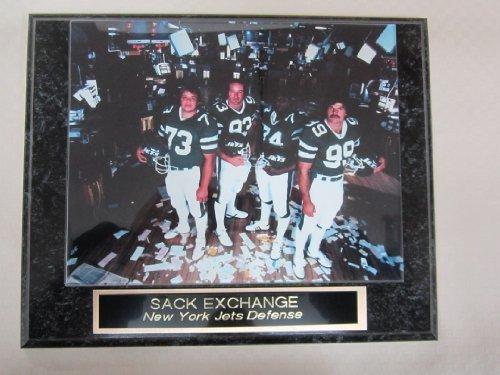 - New York Jets SACK EXCHANGE Collector Plaque w/8x10 Photo