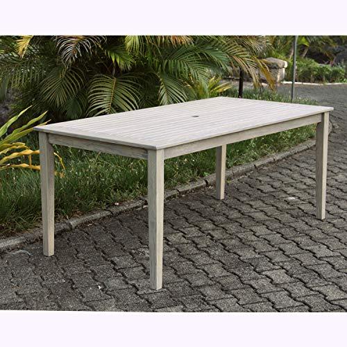 Cambridge-Casual AMZ-320868 West Lake Rectangular Dining Table, Weathered Grey