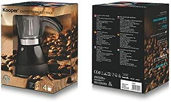 Kooper 2174615 – Cafetera eléctrica 4 tazas 400W, Colores surtidos ...