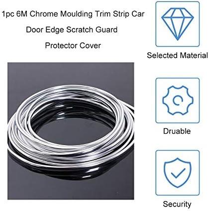 New 6M Chrome Moulding Trim Strip Car Door Edge Scratch Guard Protector Cover Strip Roll