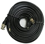CIB 100 Feet BNC Video Cable w/ Power Wire for CCTV Security Cameras and 1080P/720P Camera SDI, TVI, CVI and AHD