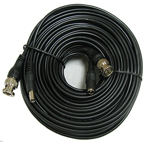 CIB 100 Feet BNC Video Cable w/Power Wire for CCTV Security Cameras and 1080P/720P Camera SDI, TVI, CVI and AHD