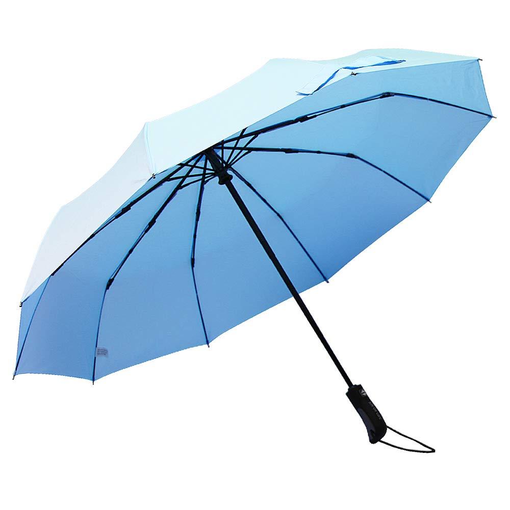 ZOMAKE Compact Travel Umbrella Windproof - Lightweight Folding Umbrella Automatic Open Close (Light Grey)