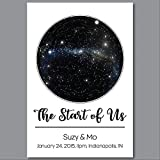 Custom Personalized Star Constellation Map WITH MILKY WAY, Star Chart, Choose Your Occasion, Custom Engagement Anniversary Present, Cool Gift Idea, Night Sky Poster 13x19