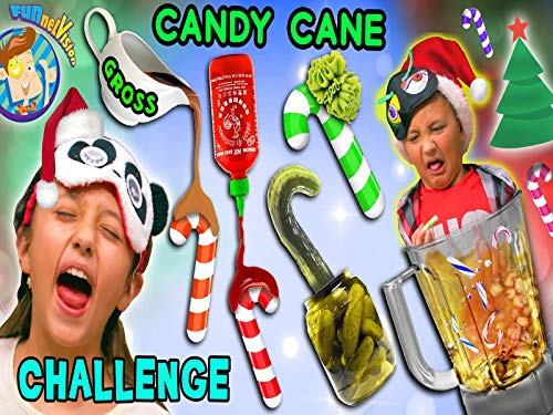Candy Cane Challenge With Strange And Weird Flavors Plus Odd Smoothie Mix