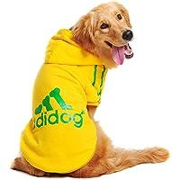 Algodón Adidog grande perro ropa mascota perro perro cálido perro ropa suave gato cachorro paño (amarillo 7XL)