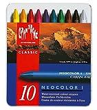 Neocolor I Water-Resistant Wax Pastels, 10 colors