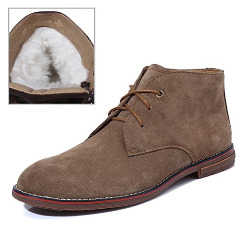 Stivali Minitoo uomo Tan Light EU Chukka beige 40 Fur Lined Aprqpaxd