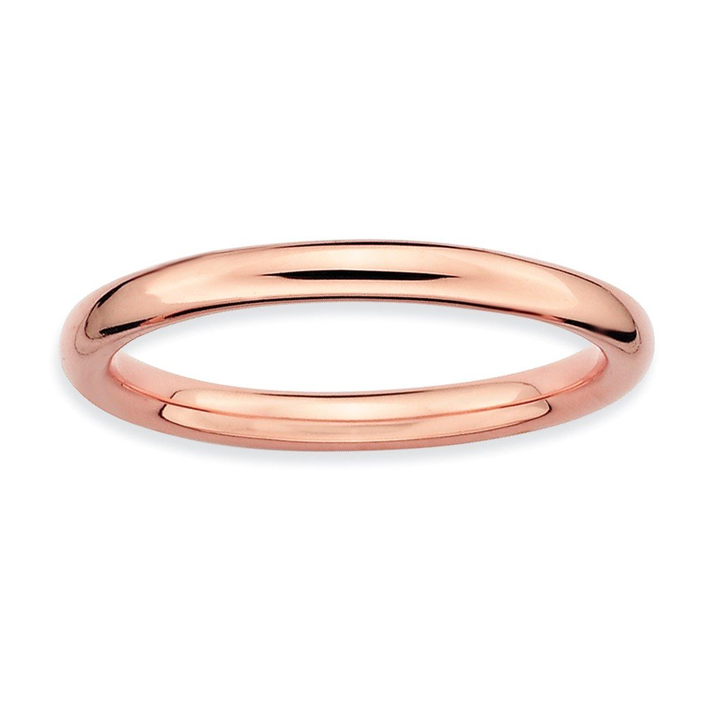 Size 6 - 2.25mm Plain Band 18K Rose Gold Plated Stackable Expressions Ring by Stackable Expressions