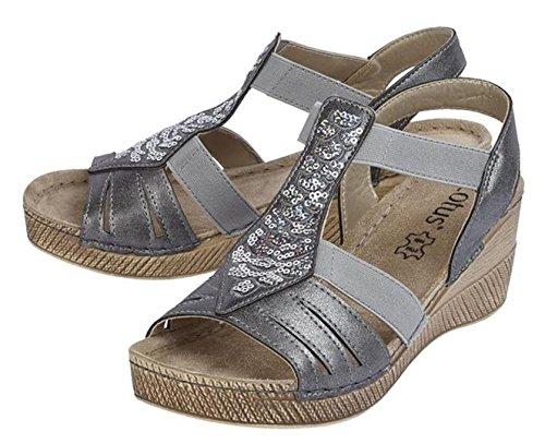 Lotus - Sandalias de vestir de Material Sintético para mujer gris gris