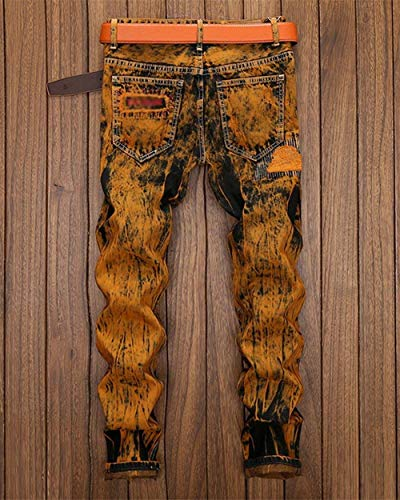 Denim Pants Regular Uomo Slim Jeans Casual Fit Ripped Vintage Da Alsbild Pantaloni 8wx0HtqO0