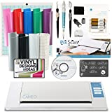 Silhouette Cameo Bundle with Multiple Color Vinyl Sheets, Transfer Paper & Bonus Tools