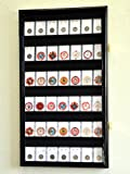 42 Collector NGC PCGS ICG Coin Slab Display Case Cabinet Holder Rack – Lockable, Black
