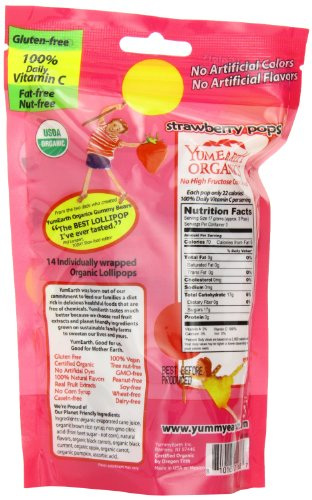 Yummy Earth Strawberry Pops, 3-Ounce (Pack of 6) by YummyEarth (Image #3)