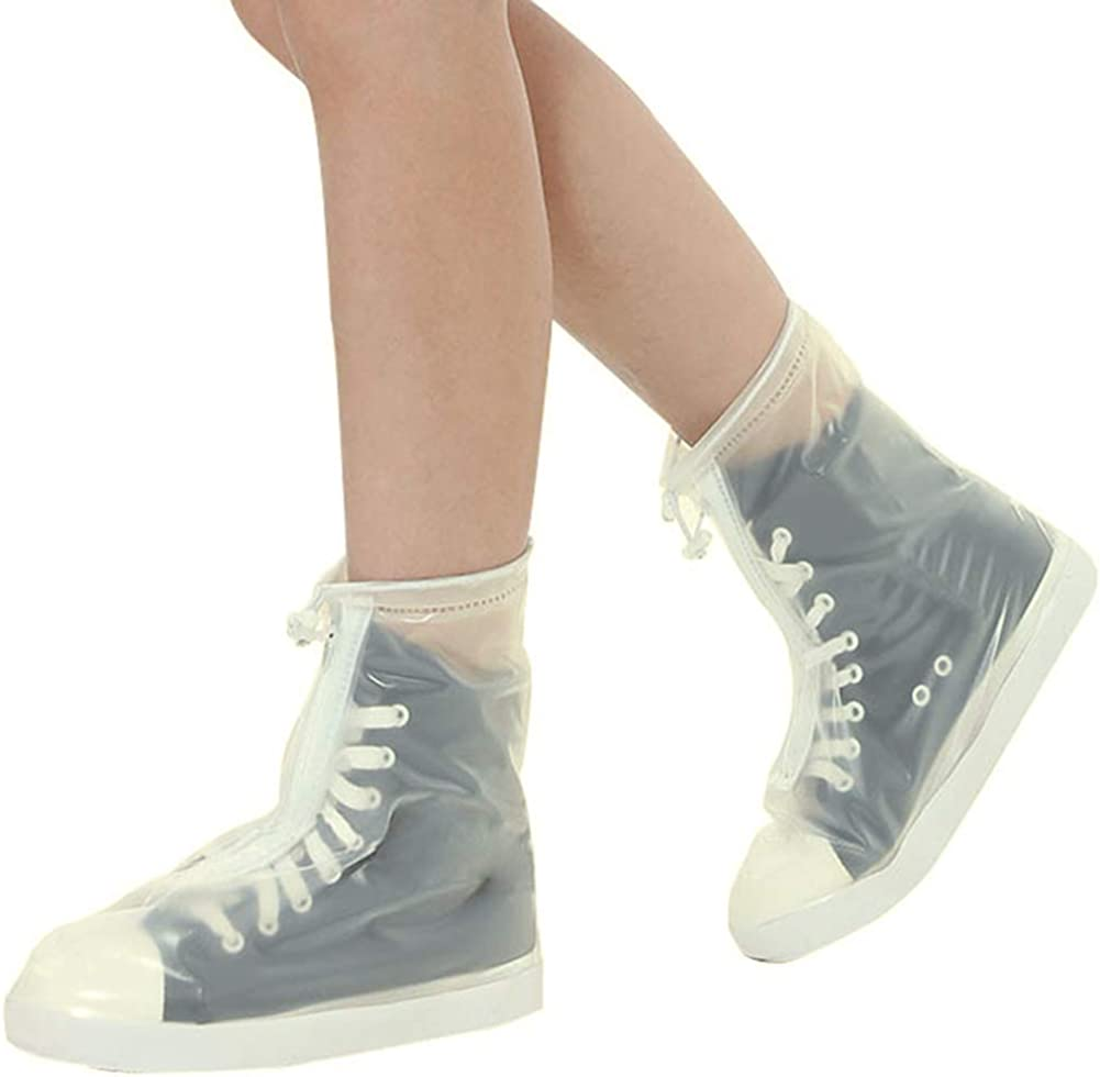 iClosam Cubiertas del Zapatos Impermeable Unisex,Cubiertas del Zapatos Reutilizable con Suela Antideslizante para Lluvia,Nieve,Barro