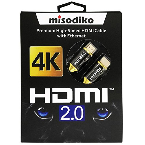 misodiko Premium High Speed HDMI 2.0 Cable for New 4k Ultra HD Televisions – Professional Series (16ft/5m)